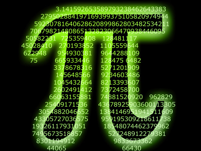 Pi Overlayed with Digits
