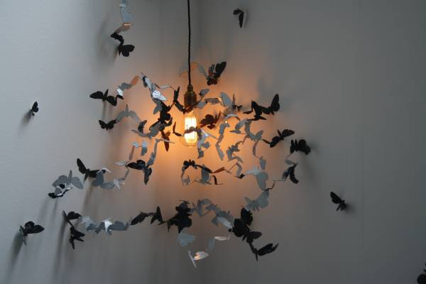 Moths Around a Lightbulb