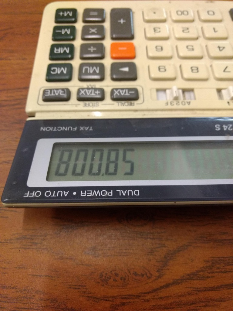 Calculator Displaying BOOBS