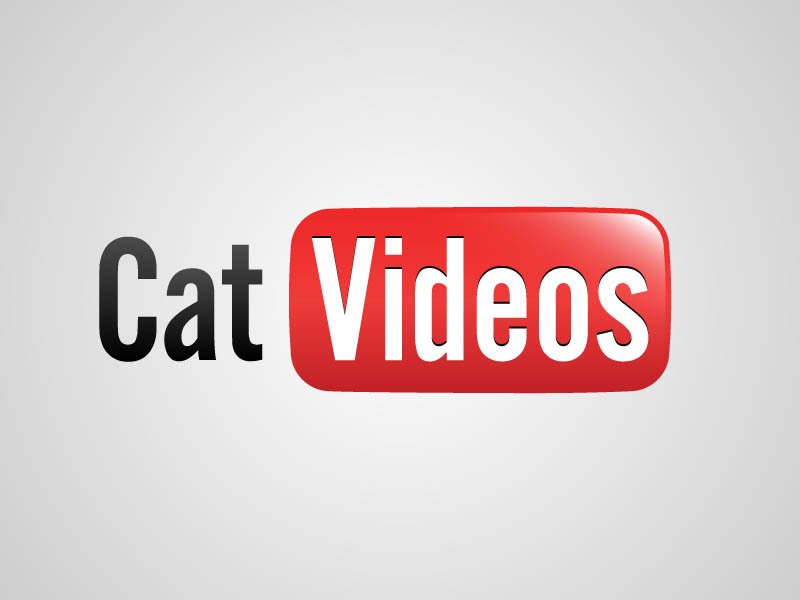 youtube logo cat videos